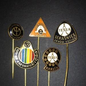 Steampunk pins: technometra, laborator, elektrokov, 2x tesla