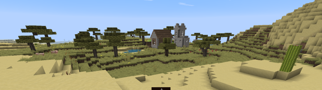 discovering an NPC-made village in minecraft