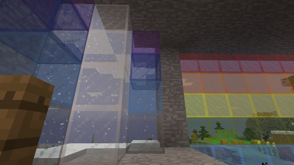 minecraft biome border snow rain