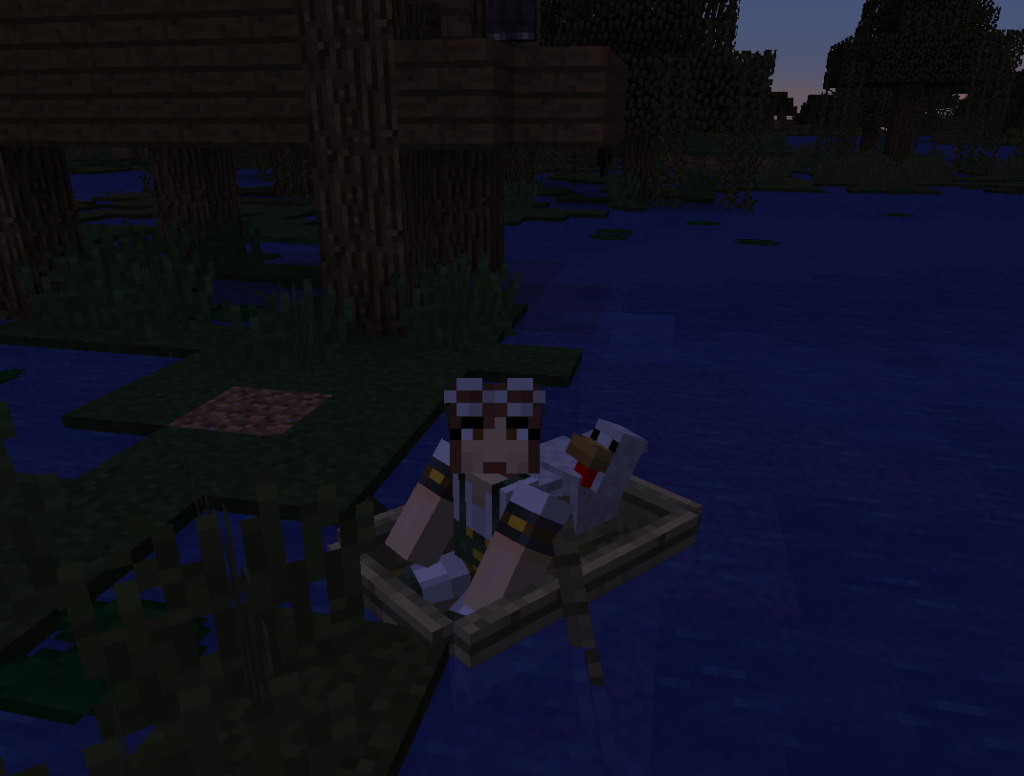 minecraft chicken boat swamp