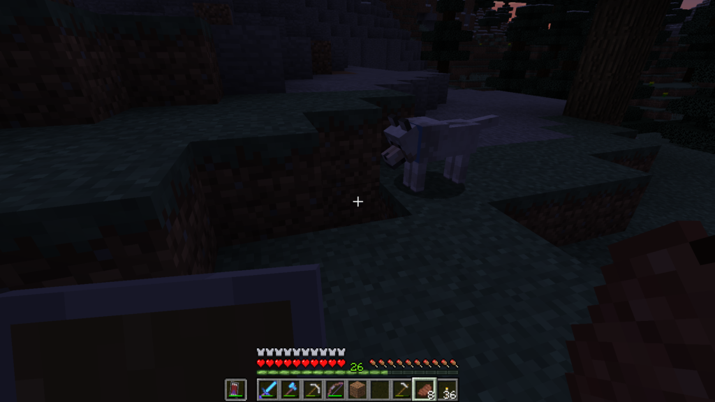 minecraft dog detected underground mobs