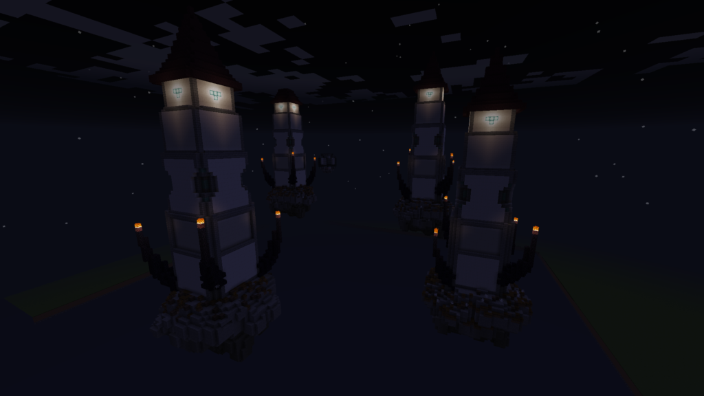 minecraft floating towers
