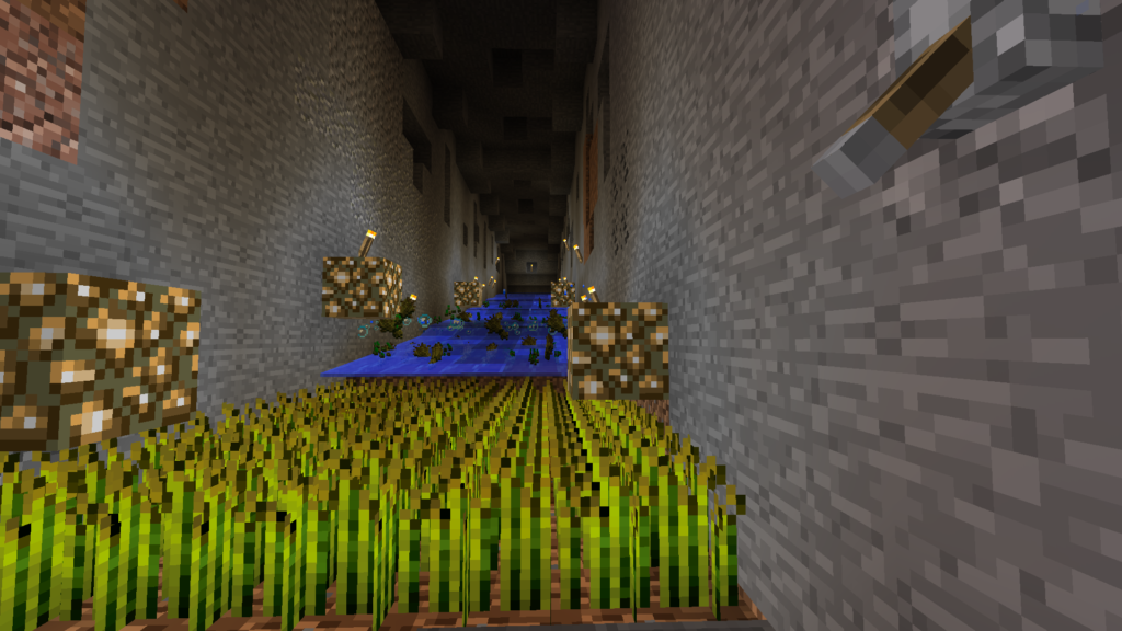minecraft water wheat farm