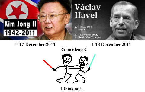 Epic battle to the death between Vaclav Havel and Kim Jong Il